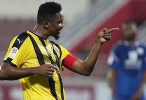 Eto'o defende o Qatar SC, de Doha Foto: Reprodução/Qatar SC
