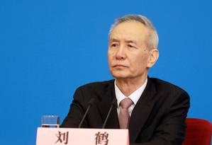 Liu He, vice-primeiro-ministro chinês Foto: Bloomberg