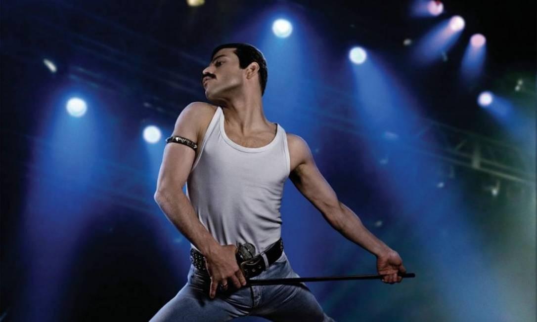 'Bohemian Rhapsody': Indicado nas categorias de melhor filme, ator (Rami Malek), edição de som, mixagem de som e edição. O filme retrata a vida de Freddie Mercury, líder doQueen, nos anos que precederam a aparição da banda no concerto Live Aid, em 1985. Foto: Divulgação