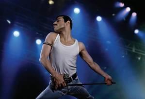 Rami Malek interpreta Freddie Mercury no filme 'Bohemian rhapsody' Foto: Divulgação
