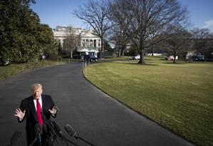 Governo Trump confia em avanço nas negociações com democratas a partir de proposta de barreira de aço na fronteira Foto: SARAH SILBIGER / NYT