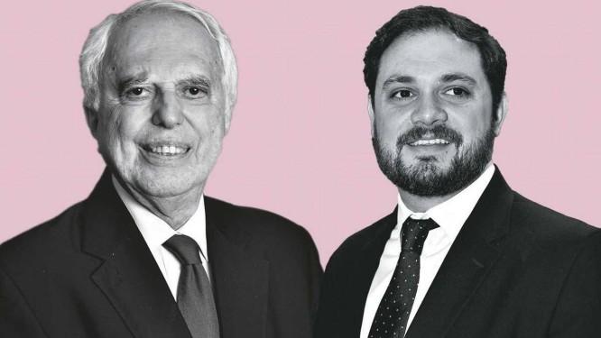 O embaixador Samuel Pinheiro Guimarães (esq.) e o analista Matias Spektor Foto: Montagem sobre fotos: Editora 247/Zé Carlos Barretta/Folhapress