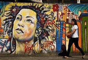 Assassinato de Marielle Franco completa 300 dias nesta terça-feira; Psol programou protesto no Centro do Rio Foto: Pablo Jacob / Agência O Globo