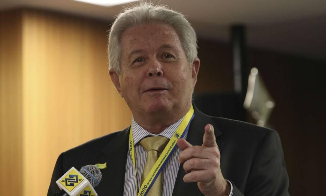 O novo presidente do Banco do Brasil, Rubem Novaes, durante cerimônia de transmissão do cargo Foto: Fabio Rodrigues Pozzebom/Agência Brasil