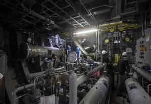 Construção de protótipo de submarino nuclear da Marinha Foto: Edilson Dantas/Agência O Globo/16-05-2018