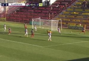 Fluminense venceu o Sete de Dourados-MS pela Copinha Foto: Reprodução/TV