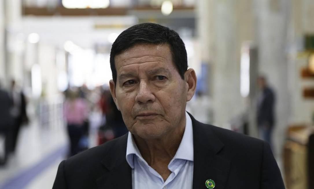 O vice-presidente da República, Hamilton Mourão Foto: Gustavo Miranda / Agência O Globo