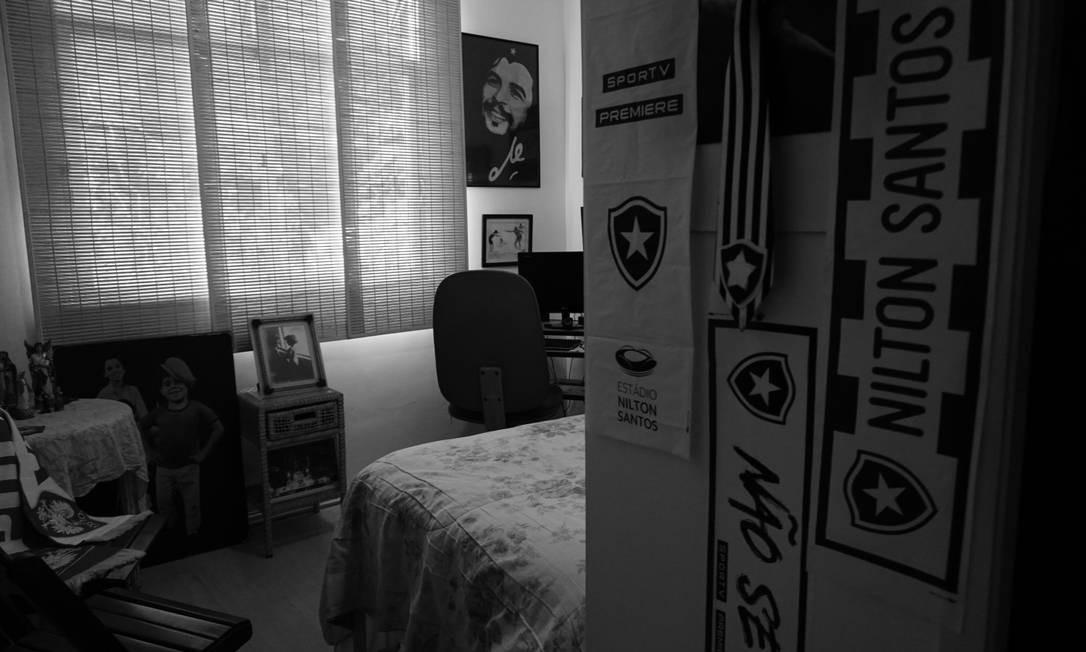Aliás, a paixão está em todos os cantos da casa Foto: Luiza Moraes / Agência O Globo