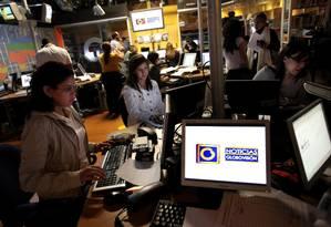 Globovisión é uma das empresas alvos de sanções dos EUA por esquema de corrupção na Venezuela Foto: THOMAS COEX / AFP