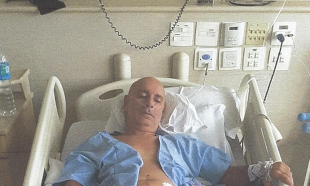 Fabrício Queiroz é submetido a procedimentos em hospital, em São Paulo Foto: Reprodução