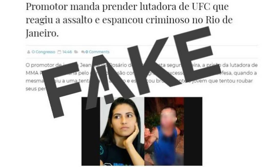 Mensagem falsa diz que promotor pediu a prisão de Polyana Viana Foto: Reprodução