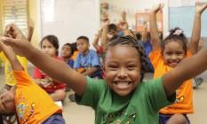 Crianças numa das edições da colônia de férias da Favela Mundo na Cidade de Deus Foto: Cacau Fernandes / Divulgação