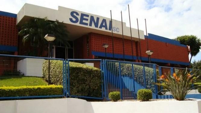 Fachada do Senai em Chapecó, Santa Catarina Foto: Reprodução