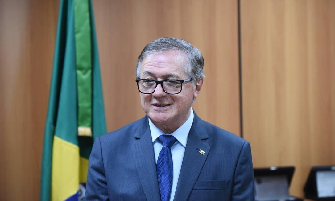 O ministro da Educação, Ricardo Vélez, durante cerimônia de transmissão de cargo Foto: Luis Fortes/Divulgação/02-01-2019