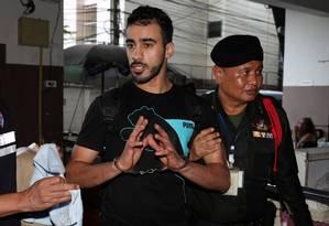 Hakeem Al Araibi foi preso em Bangkok em dezembro Foto: Athit Perawongmetha / REUTERS