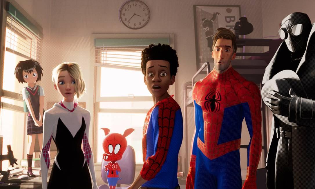 Cena da animação 'Homem-Aranha: No Aranhaverso' Foto: Divulgação/Sony Pictures Animation / Divulgação