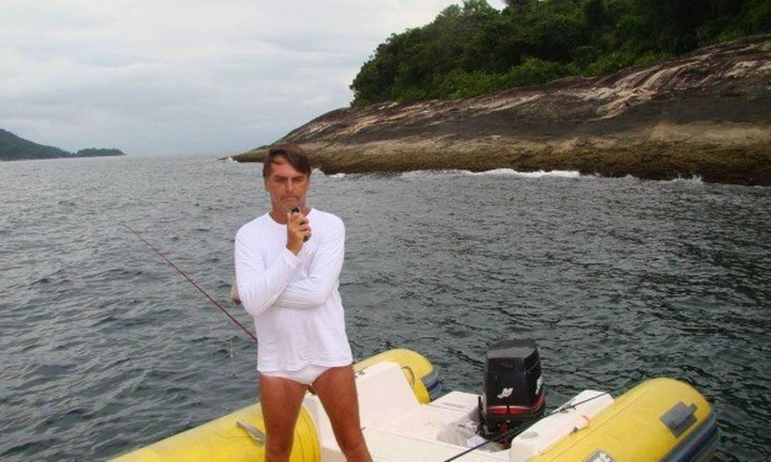 Bolsonaro em área de acesso proibido em Angra Foto: Divulgação