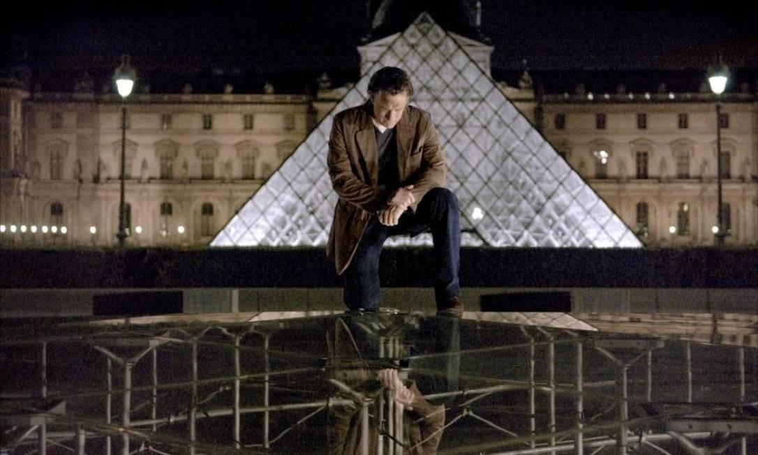 """A pirâmide é presença constante na cultura pop. Ela tem papel central na trama de """"O código Da Vinci"""", que teve Tom Hanks estrelando sua versão cinematográfica, por exemplo Foto: Reprodução"""