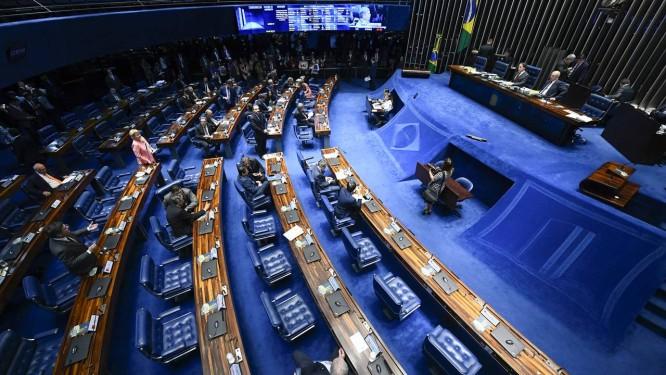 Plenário do Senado Federal durante sessão Foto: Marcos Oliveira/Agência Senado/19-12-2018