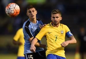Caio Henrique disputou o Sul-Americano Sub-20 pela seleção brasileira Foto: RODRIGO BUENDIA / AFP