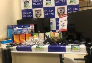 O material recuperado pela PM Foto: Polícia Militar / Reprodução