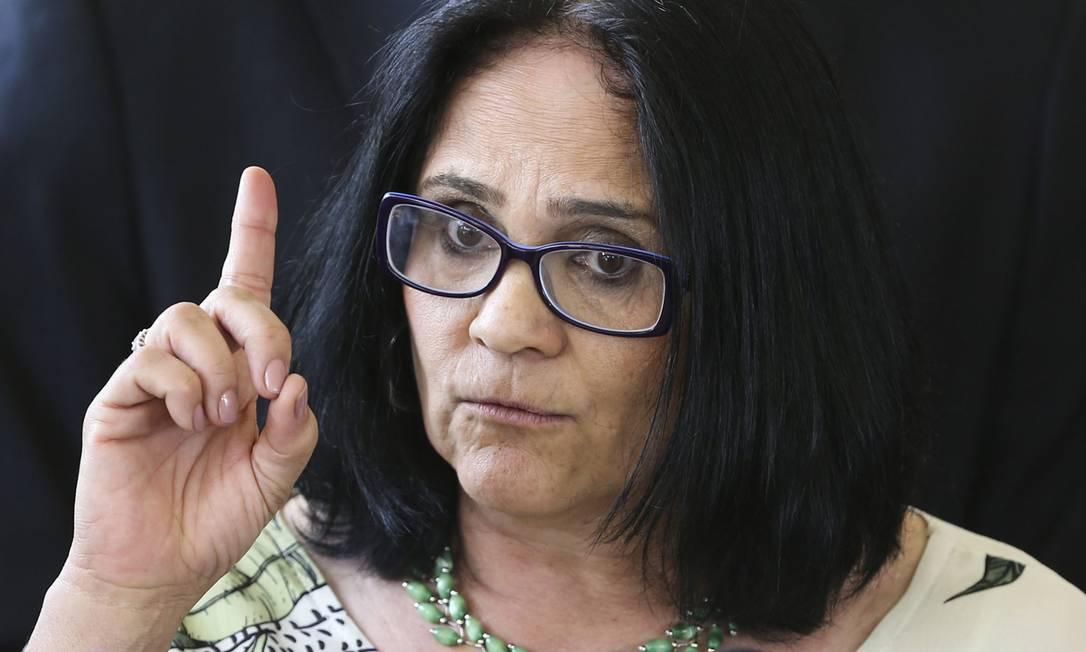 A ministra de Mulher, Família e Direitos Humanos, Damares Alves. Foto: Valter Campanato/Agência Brasil / Agência O Globo