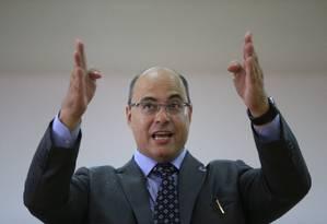 O governador Wilson Witzel Foto: Roberto Moreyra / Agência O Globo