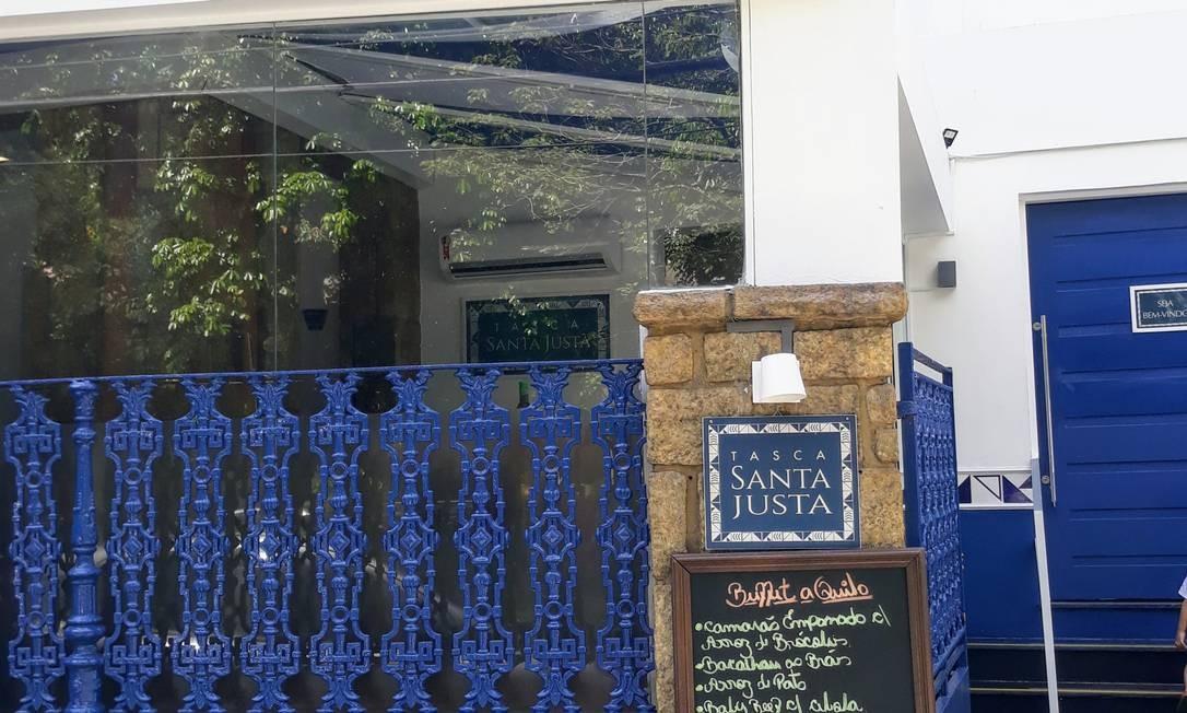 RS- fachada do restaurante Santa Justa, no Jardim Botânico. Foto: Luciana Fróes