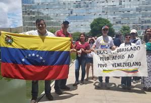 Venezuelanos agradecem a posição adotada pelo governo brasileiro Foto: Eliane Oliveira