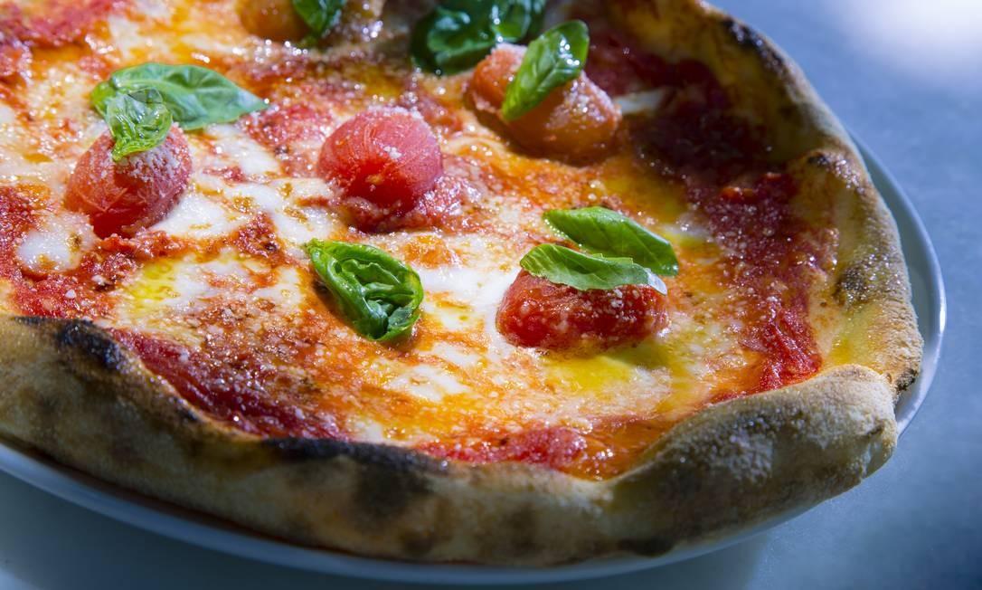 Uma das pizzas que agora são preparadas no Copacabana Palace Foto: Leo Martins / Agência O Globo