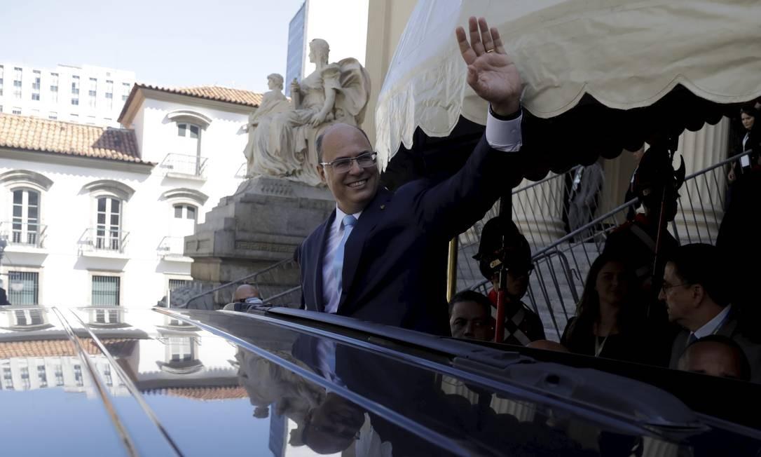 A cerimônia de posse foi dividida em dois dias, para que Witzel pudesse acompanhar a posse presidencial de Bolsonaro em Brasília Custódio Coimbra / Agência O Globo