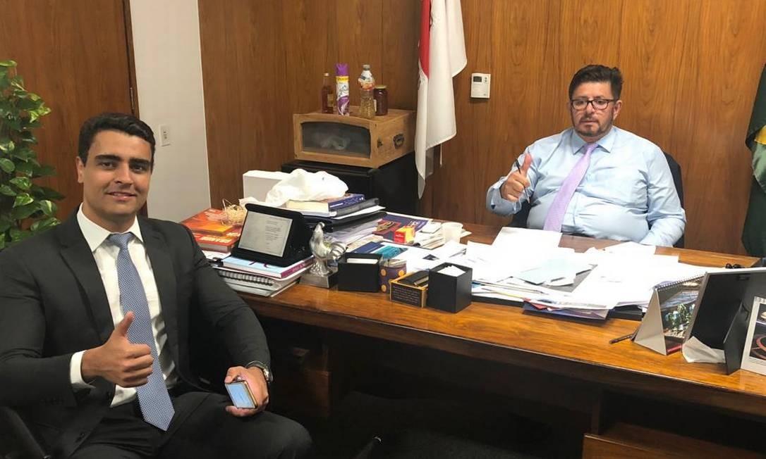 Os deputados JHC (PSB-AL) e Fábio Ramalho (MDB-MG) Foto: Reprodução