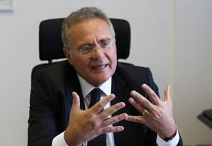 O senador Renan Calheiros (MDB-AL) Foto: Givaldo Barbosa / Agência O Globo