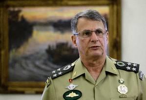 O novo comandante do Exército, general Edson Leal Pujol Foto: Jorge William / Agência O Globo