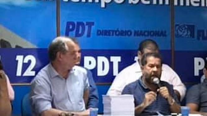 Ciro Gomes durante reunião do PDT, no Centro do Rio Foto: Divulgação/ PDT