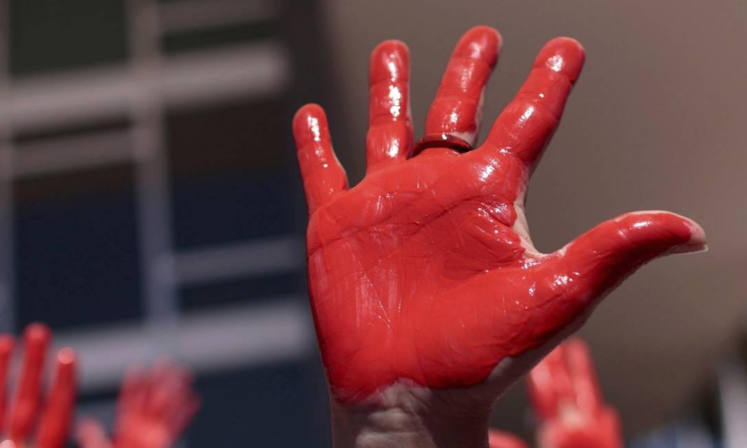 Protesto contra o aumento de feminicídios em Brasília ainda não foram suficientes para sensibilizar o governo sobre a gravidade do problema Foto: Ueslei Marcelino / Reuters