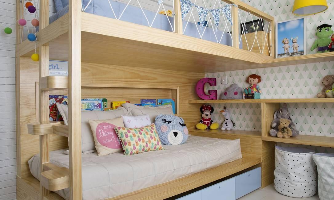 Quarto infantil assinado pela arquiteta Bianca da Hora Foto: Juliano Colodeti/MCA Estudio / Juliano Colodeti/MCA Estudio