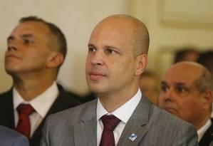 Chefe da Casa Civil, José Luiz Zamith no dia em que tomou posse como secretário de Witzel, no dia 2 de janeiro, no Palácio Guanabara Foto: Domingos Peixoto / Agência O Globo