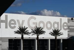 Outdoor do Google na CES, em Las Vegas: casos de assédio sexual na mira Foto: ROBYN BECK / AFP
