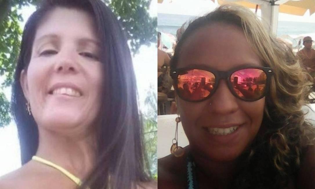Katia Valéria Nunes e Tamires Blanco foram assassinadas no começo desse ano. Foto: Reprodução das redes sociais