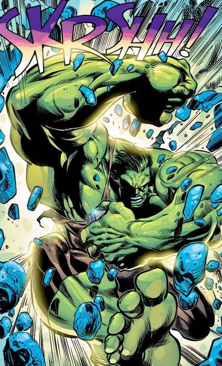 """JOE BENNETT (Pará, 50 anos). Atualmente quebrando tudo com o Hulk, um ícone da Marvel, Benedito José Nascimento já fez para a DC versão em quadrinhos da série de TV """"Arrow"""". Foto: Joe Bennett / Divulgação"""