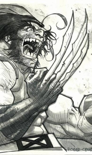 """ROGER CRUZ (São Paulo, 47 anos). Após anos entre heróis da Marvel, como Wolverine (acima), toca projetos pessoais como """"Quaisqualigundum"""", premiada bio de Adoniran Barbosa em HQ. Roger Cruz / Reprodução"""