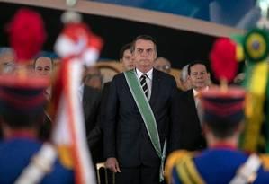 O presidente Jair Bolsonaro participa de cerimônia de troca de comando do Exército Foto: Sergio Lima/AFP/11-01-2019