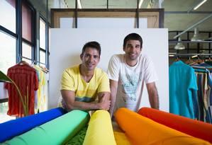Guilherme Pecegueiro (à esquerda) e o sócio Sergio Dutra Foto: Gabriel de Paiva / Agência O Globo