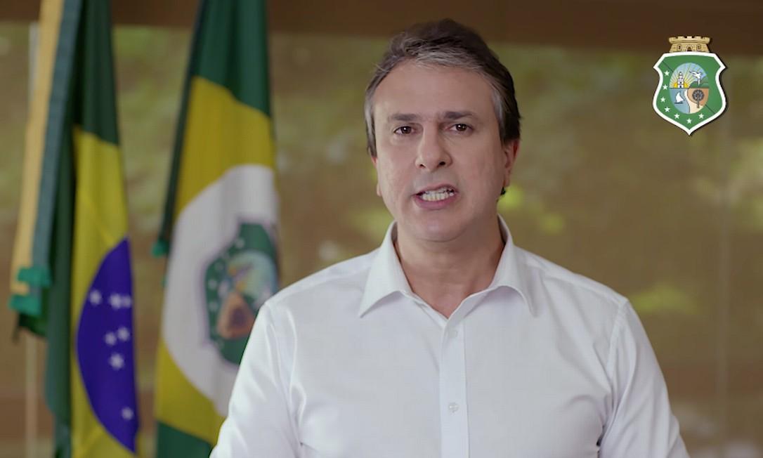 Camilo Santana divulgou vídeo nas redes sociais com propostas para resolver crise de segurança no estado Foto: Reprodução / Facebook