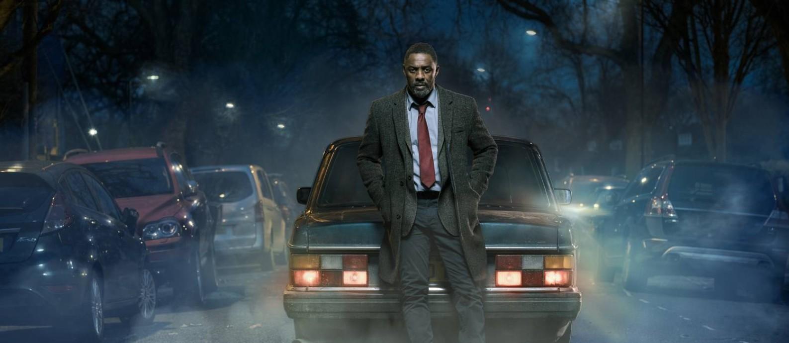 """Idris Elba no papel de John Luther, o detetive da série britânica """"Luther Foto: Des Willie / Divulgação"""