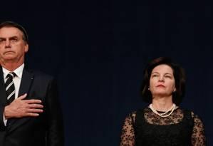 O presidente Jair Bolsonaro e procuradora-geral da República, Raquel Dodge Foto: Isac Nóbrega/Presidência
