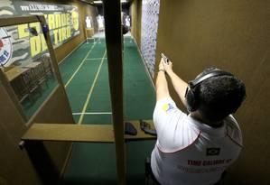Clube de tiro Foto: Guilherme Pinto / Agência O Globo