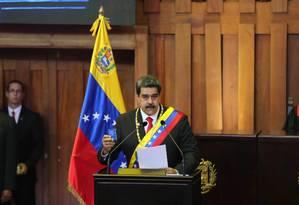 Nicolás Maduro em sua posse no dia 10 de janeiro de 2019 Foto: Anadolu Agency / Getty Images