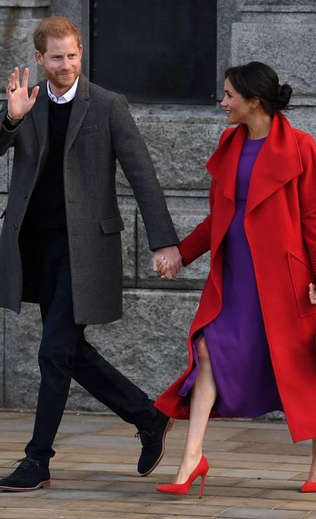 Mais do casal real Foto: PAUL ELLIS / AFP